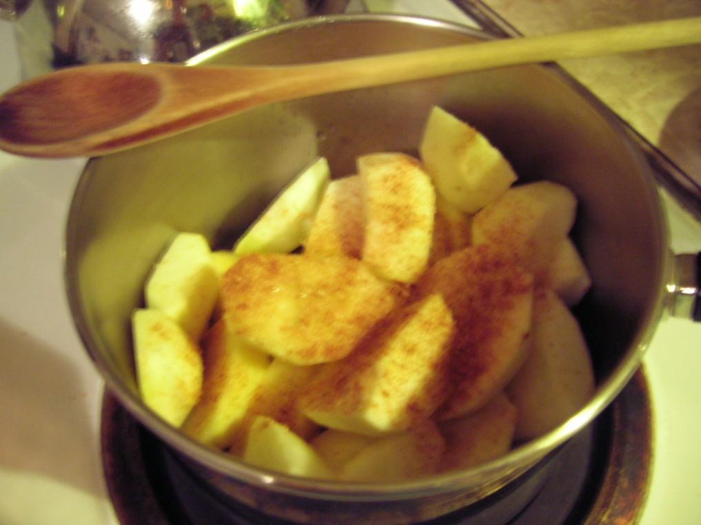 Add cinnamon and sugar totaste